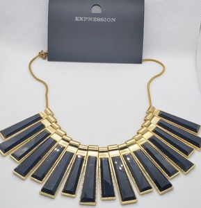 Expression Jewelry - Expression Necklace Gold/Black